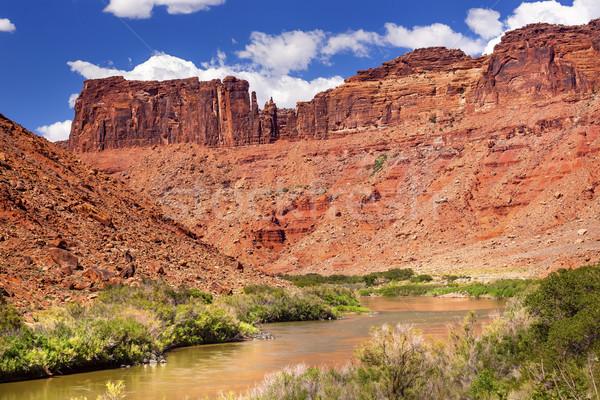 Colorado rivier rock canyon buiten park Stockfoto © billperry