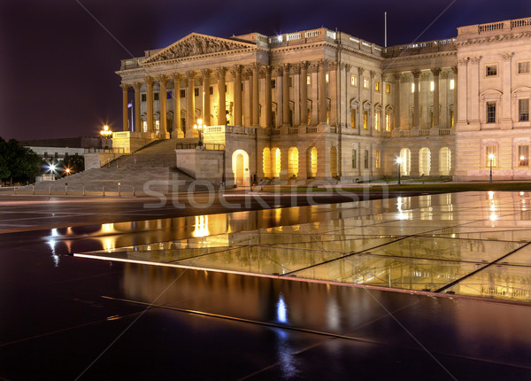 House of Representatives Relfection US Capitol North Side  Night Stock photo © billperry