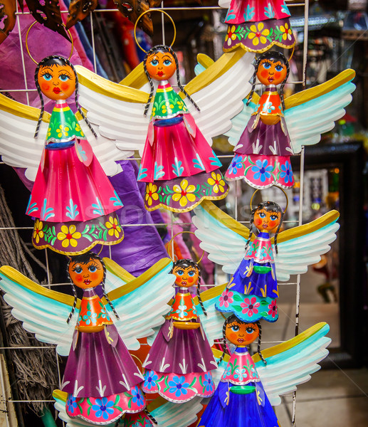 Colorful Mexican Angel Souvenirs San Miguel de Allende Mexico Stock photo © billperry