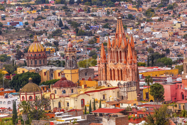 San Miguel de Allende Mexico Miramar Overlook  Parroquia Church Stock photo © billperry