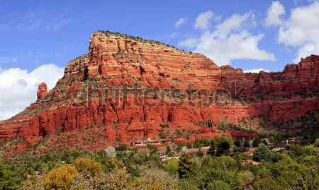 Stock photo: Red Rock Canyon Houses Sedona Arizona