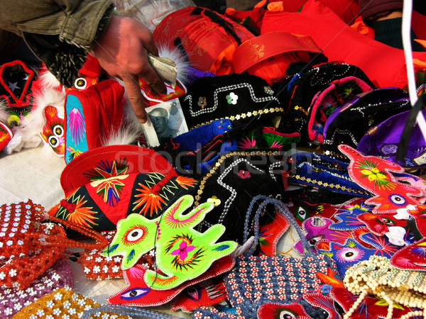 Selling Chinese, Lunar, New YearTraditional Decorations Stock photo © billperry