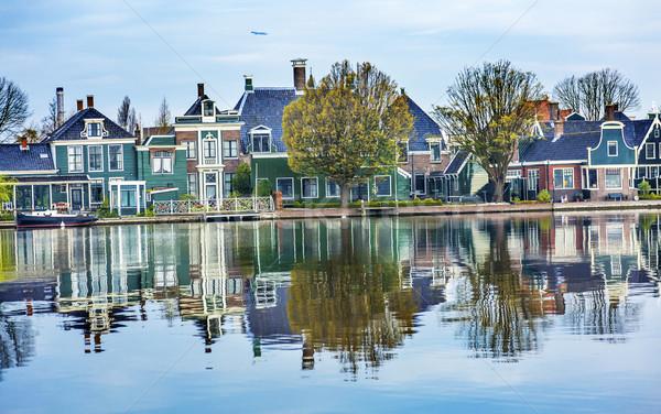 川 村 オランダ 古い 風景 ストックフォト © billperry