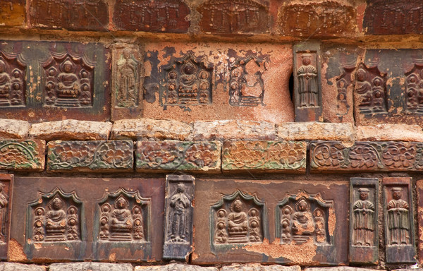 Ancient Bricks Details Iron Buddhist Pagoda Kaifeng China Stock photo © billperry