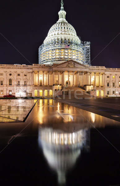 US Capitol North Side Construction Night Stars Washington DC Ref Stock photo © billperry