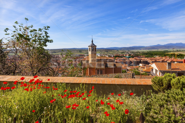Convent Santa Maria Avila Ancient Medieval City Cityscape Castil Stock photo © billperry