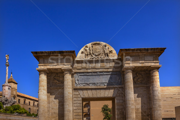 Puerta del Puenta Gate Triumph San Rafael Roman Bridge Cordoba S Stock photo © billperry