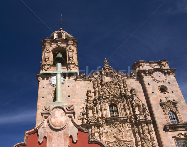 Cross Bell Steeple Valencia Church Guanajuato Mexico Stock photo © billperry