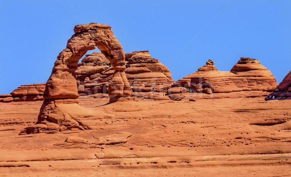 Boog rock canyon park Utah Rood Stockfoto © billperry