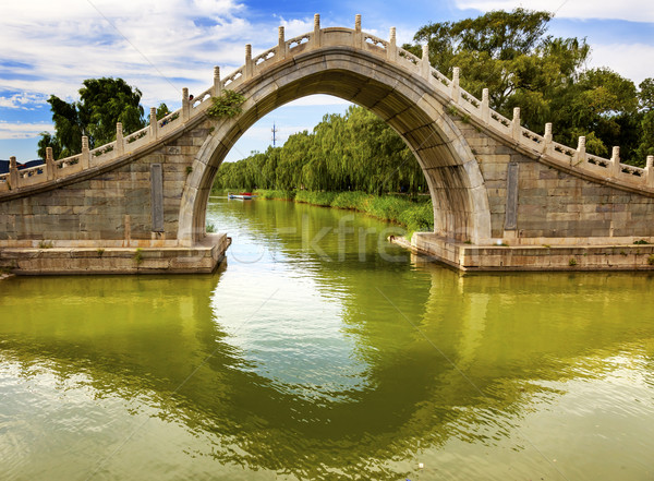 Moon Gate Bridge Reflection Summer Palace Beijing China Stock photo © billperry