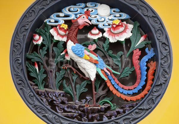 フェニックス 金属 彫刻 仏 寺 ストックフォト © billperry