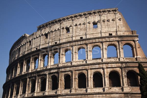 Ayrıntılar colosseum Roma İtalya şehir inşaat Stok fotoğraf © billperry