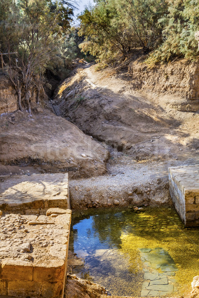 Jesus Baptism Site Channel River John Baptist Bethany Beyond Jor Stock photo © billperry