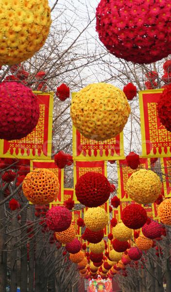 Chinese nieuwjaar decoraties Beijing China nieuwe Stockfoto © billperry