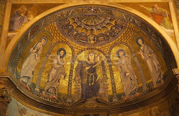 Foto stock: Basílica · fórum · Roma · Itália · mosaico