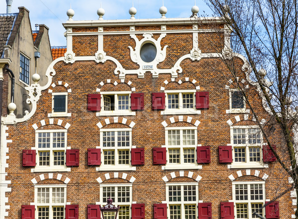 Old Canal Building Singel Canal Amsterdam Holland Netherlands Stock photo © billperry