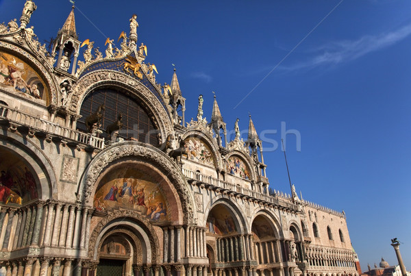 Saint Mark's Basilica Details Statues Mosaics Doge's Palace Veni Stock photo © billperry