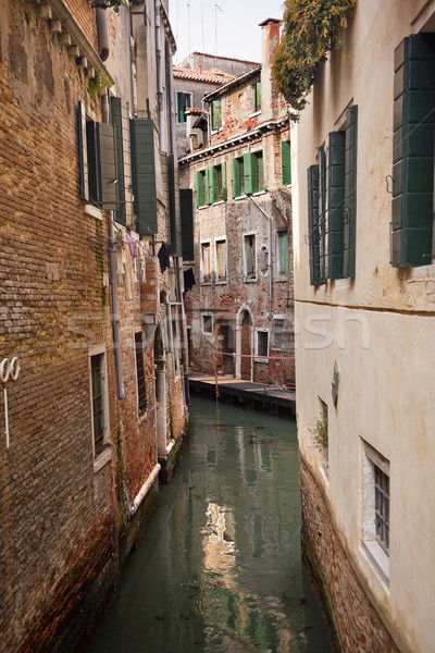 Small Side Canal Venice Italy Stock photo © billperry