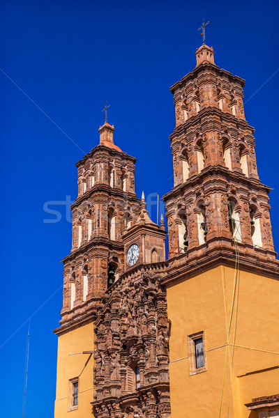 Christmas Parroquia Cathedral Spires Bell Towers Dolores Hidalal Stock photo © billperry
