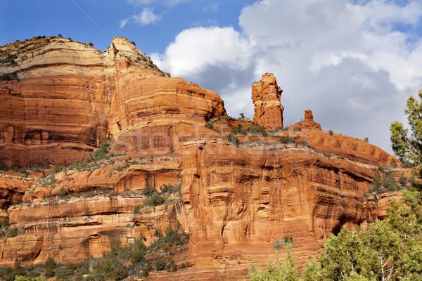 Stock photo: Clouds Blue Sky Over Boynton Red Rock Canyon Sedona Arizona