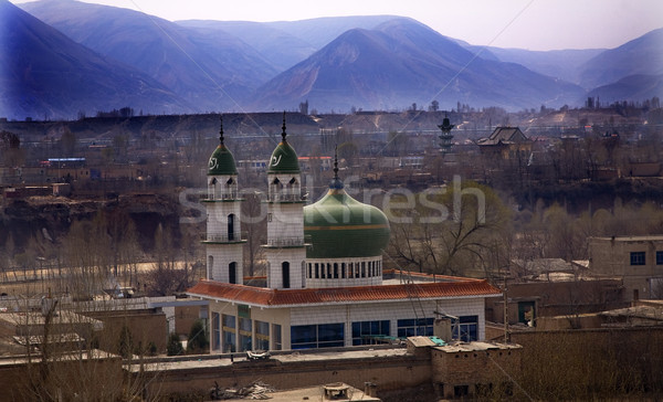 Islamic Mosques Gansu Province China Stock photo © billperry