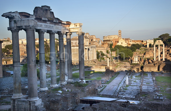 Forum Overview Center Road Rome Italy Stock photo © billperry