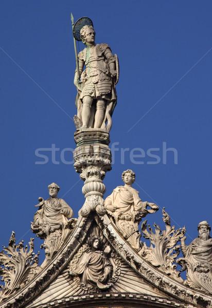 Saint Marks Basilica Statues Venice Italy Stock photo © billperry