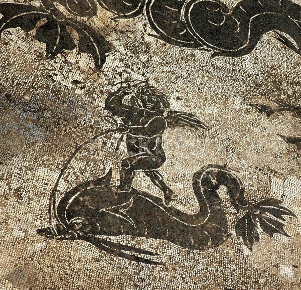 Antica romana delfino mosaico piano Roma Foto d'archivio © billperry