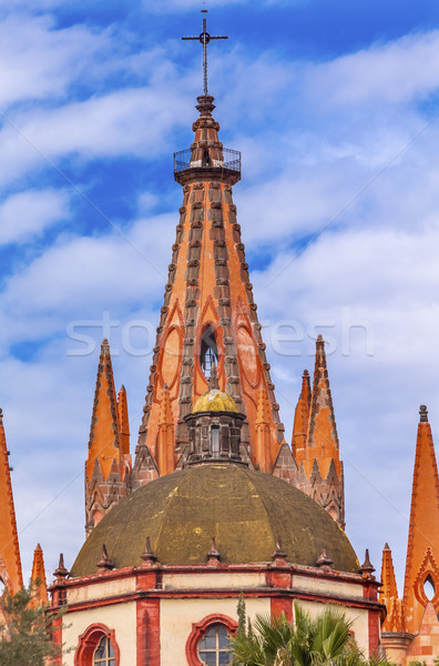 Parroquia Archangel Church Aldama Street San Miguel de Allende M Stock photo © billperry