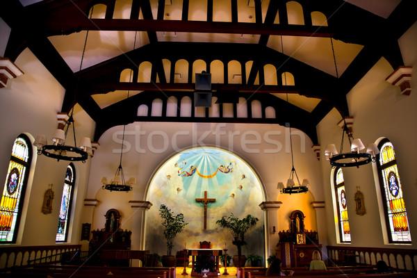Igreja velho San Diego cidade Califórnia histórico Foto stock © billperry