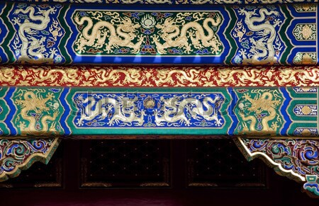 Temple Of Heaven Details Dragons Beijing China Night Stock photo © billperry