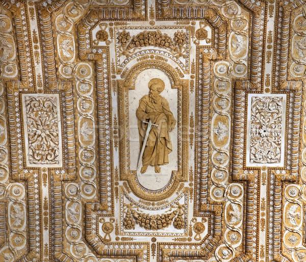 Vatikán plafon bent szobor szent Róma Stock fotó © billperry