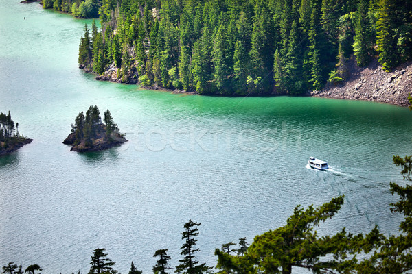 Diablo Lake Boat North Cascades National Park Washington Pacific Stock photo © billperry