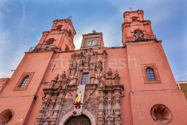 San Francisco Pink Church Templo de San Francisco Guanajuato Mex Stock photo © billperry