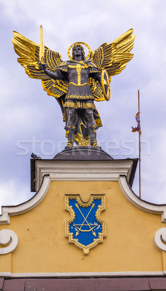 Laches Gate Saint Michael Statue Maidan Square Kiev Ukraine Stock photo © billperry