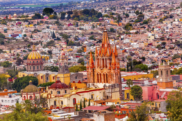 San Miguel de Allende Mexico Miramar Overlook Parroquia Stock photo © billperry