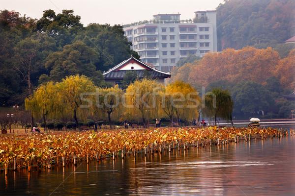 Antigua chino casa oeste lago China Foto stock © billperry