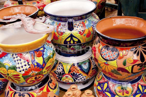 Mexicaanse kleurrijk souvenir keramische Arizona speelgoed Stockfoto © billperry