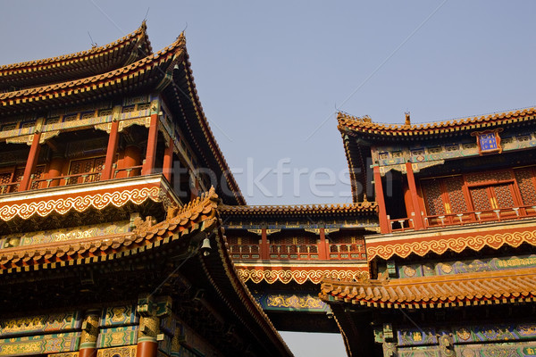 Yonghe Gong Buddhist Temple Beijing China Stock photo © billperry