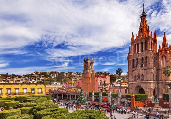 Parroquia Jardin Archangel Church San Miguel Mexico Stock photo © billperry