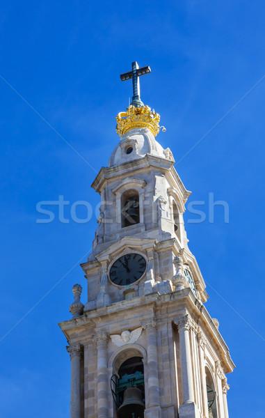 Bazilika hölgy rózsafüzér Portugália harang torony Stock fotó © billperry