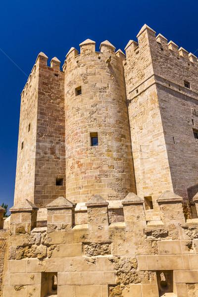 Antigo torre romano ponte Espanha Foto stock © billperry