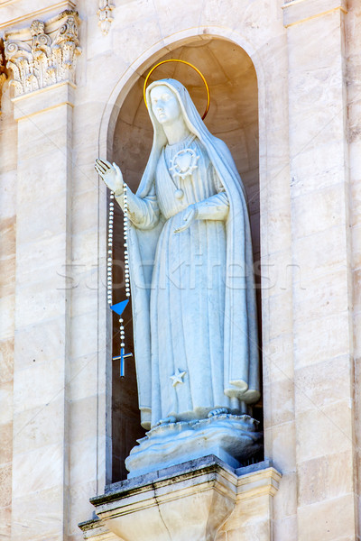 Mary Statue Rosary Bell Tower Angels Basilica of Lady of Rosary  Stock photo © billperry