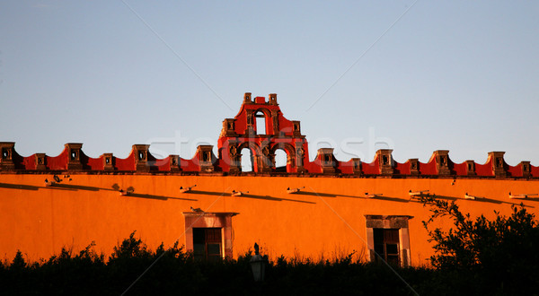 Red Yellow Building College San Miguel Mexico Stock photo © billperry