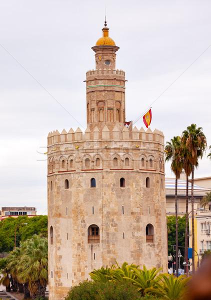 Torre del Oro Old Moorish Watchtower Seville Andalusia Spain Stock photo © billperry