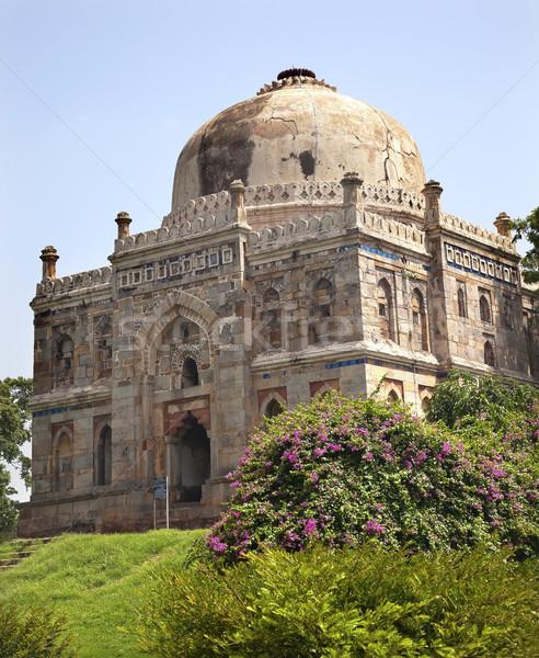 Grób ogrody new delhi Indie starożytnych Zdjęcia stock © billperry