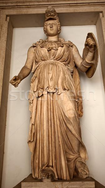 Ancient Minerva Statue Roman Goddess Capitoline Museum Rome Ital Stock photo © billperry