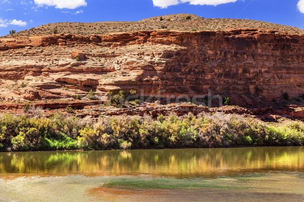 Colorado rivier rock canyon reflectie park Stockfoto © billperry