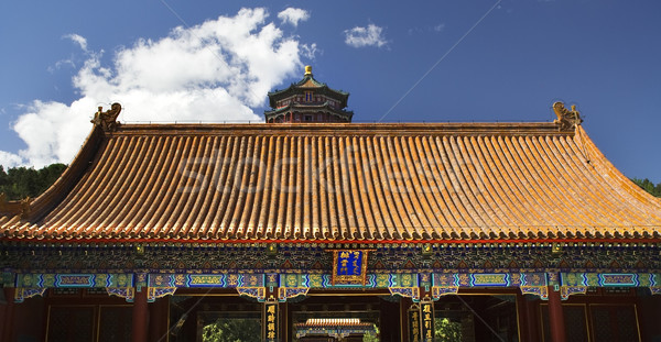 Elöl kapu torony illat Buddha nyár Stock fotó © billperry