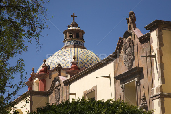 Santa Clara Church Dome Queretaro Mexico Stock photo © billperry